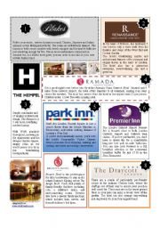 English Worksheet: HOTELS IN LONDON