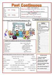 English Worksheets: Past Continuous: When -While /Keys