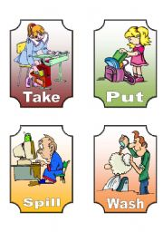 English Worksheets: Action Verb Flashcards (9 of 12)