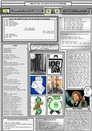 English Worksheet: MONEY�S TOO TIGH TO MENTION - SIMPLY RED - PART 02 - FULLY EDITABLE AND CORRECTABLE