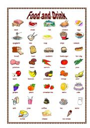 food drink drinks worksheets vocabulary worksheet english esl topic teaching eslprintables preview