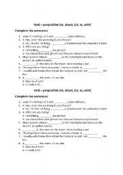 verbs + prepositions