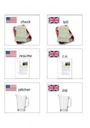 American / British English flashcards 9