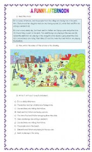 English Worksheets: A funny afternoon