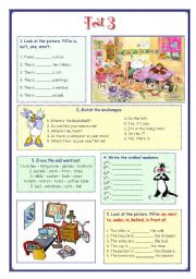 English Worksheet: My English Portfolio 13 (Test 3)