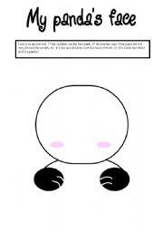 English Worksheets: my panda face (oral activity)