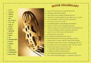 English Worksheets: MOVIE VOCABULARY