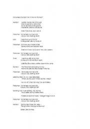 English Worksheet: SCRIPT FOT SKIT ON HUMPTY DUMPTY