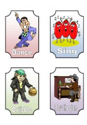 English Worksheets: Action Verb Flashcards (10 of 12)
