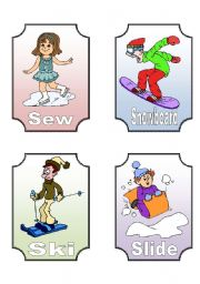 English Worksheets: Action Verb Flashcards (12 of 12)