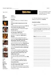 English Worksheets: Back to the Future Part I: Worksheet 5 of 7