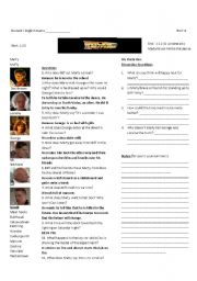 Back to the Future Part I: Worksheet 6 of 7