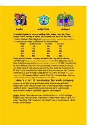English Worksheets: Terrific Spelling Game