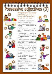 English Worksheet: Possessive adjectives 3