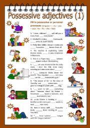 English Worksheet: Possessive adjectives 1