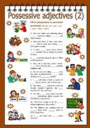 English Worksheet: Possessive adjectives 2