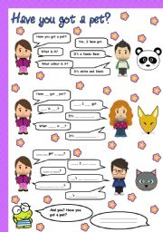 English Worksheets: have you got a pet?