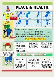 English Worksheets: PEACE & HEALTH