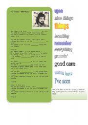 Cat Stevens Worksheet