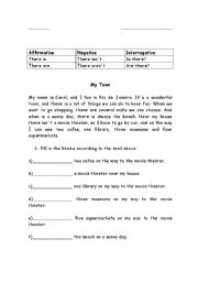 English Worksheets: Affirmative, negative, interrogative