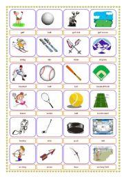 sports equipment location pictionary memory exercise esl worksheet by leonida11. Black Bedroom Furniture Sets. Home Design Ideas