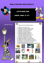 English Worksheets: let�s have fun