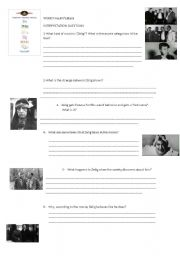 English worksheet: Interpretation questions for the movie Zelig (Woody Allen)