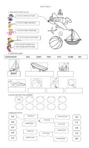 English Worksheet: TOYS, NUMERS 11-20, HAVE/HAVEN�T GOT, BIG/SMALL