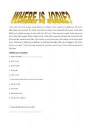 English Worksheets: Jodie