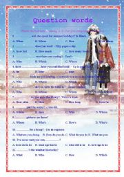 English Worksheets: Question words (65 multiple choice questions)-key included