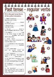 English Worksheet: Past tense - regular verbs