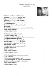 nothing compares to you lyrics