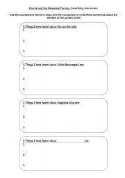 Charlie and the Chocolate factory printable worksheets, powerpoints ...