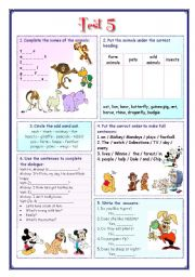 English Worksheets: My English Portfolio 15 (Test 5)
