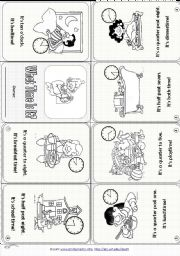 English Worksheets: Time & Daily Routines (3 pages, editable)