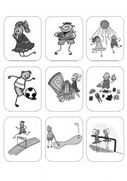 English Worksheets: ACTIONS - Memory Game