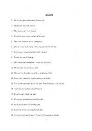 English Worksheets: REWRITE THESE SENTENCES