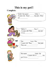 English Worksheets: This is my pet