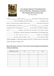 English Worksheet: THE LORD OF THE RINGS - video activity + KEY