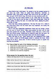 English Worksheets: AT THE SEA