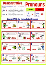 possessive pronouns worksheet 4th grade