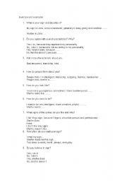 English Worksheets: zodiacal