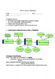 English Worksheets: Writing Flashbacks (step by step)