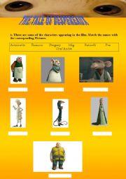 English worksheet: Despereaux (1st part)