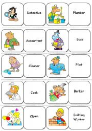 English Worksheets: Jobs and Professions - Dominoes - 1/2