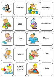 English Worksheet: Jobs and Professions - Dominoes - 2/2