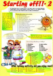 English Worksheet: BACK TO SCHOOL-2