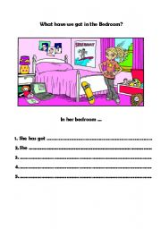 english worksheets what have we got in the bedroom