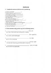 English worksheets: Tag Questions worksheets, page 27