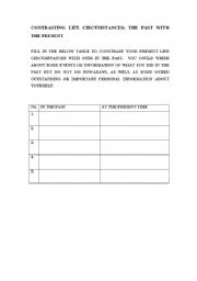 English Worksheets: Present and Past Actions